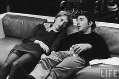Actors Dustin Hoffman and Mia Farrow, LIFE 1969
