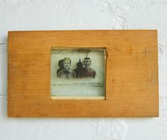 Antique Magic Lantern Slide Mr. Mephistopheles Dark Humor Wood Frame