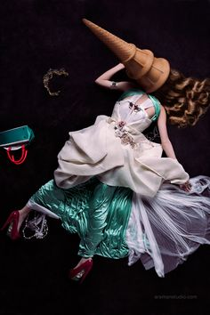 Fashion Ice Cream by Toufic Araman, via Behance woman eaten by ice cream cone in revenge attack...funny surreal fashion photo