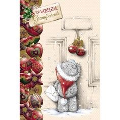 Wonderful Grandparents Me to You Bear Christmas Card  £2.49