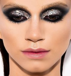 "195 Likes, 1 Comments - Diana Ionescu (@dianaionesco) on Instagram: ""Trends #makeup @dimakeupstudio photo @_uanna_ model @lenadumitras #glitter #silver"""