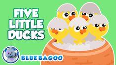 Five Little Ducks | Numbers for Preschoolers | Blue Bagoo Kids Songs