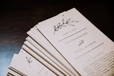 Wedding Programs - Classic Indianapolis Wedding - Canal 337 Wedding - The Overwhelmed Bride Wedding Blog Wedding Bride, Wedding Blog, Wedding Planner, Wedding Ideas, Industrial Chic, Wedding Programs, Beautiful Day, Classic, Wedding Planer