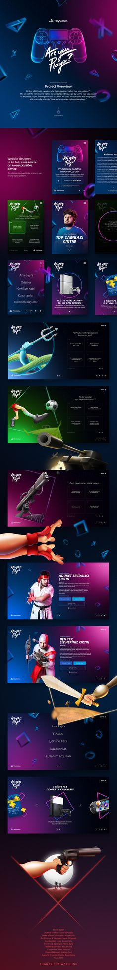 Sony Playstation Are You Player? on Behance