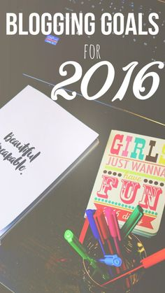 ON THE BLOG: my blogging goals for 2016