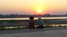 Laos, Vientiane - zalazak sunca na Mekongu