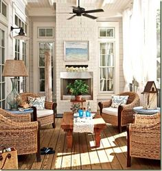 When we get our indoor/outdoor fireplace and our french doors/windows, this is what our patio will look like. :)