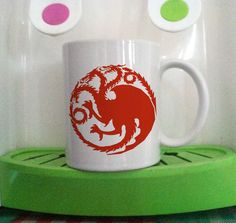 Targaryen Fire and Blood The Game of Thrones mug cup two side ceramic 11oz