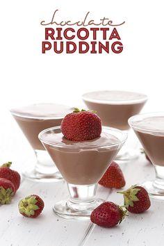 Low Carb Chocolate Ricotta Pudding Recipe