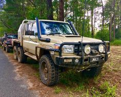 JMACX build a conversion kit for the Toyota Land Cruiser 70 series and 200 series. Truck Flatbeds, Suv Trucks, Cool Trucks, Landcruiser Ute, Landcruiser 79 Series, Toyota Cruiser, Expedition Truck, Toyota 4x4, Dirtbikes
