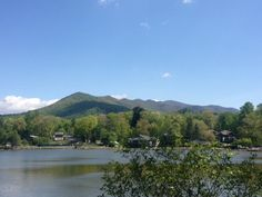 Morning view of the Seven Sisters at Lake Tomahawk in Black Mountain, NC 5/12/13 - near Asheville