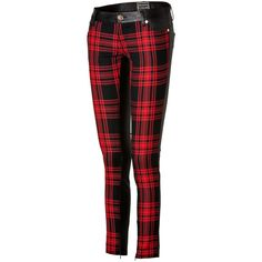 FAUSTO PUGLISI Wool/Leather Tartan Pants in Black (2,155 CAD) ❤ liked on Polyvore featuring pants, form fitting pants, leather trousers, zip pants, genuine leather pants and real leather pants