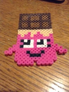 Perler Bead shopkins cheeky chocolate