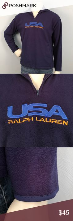 Ralph Lauren Polo Sport Fleece Sweater size Medium This is a vintage sweater that is in pretty good condition. Expected wear from an older garment but no damage to the fabric and the embroidery and patches are in great condition. Please feel free to ask further questions and all offers will be considered. Polo by Ralph Lauren Shirts Sweatshirts & Hoodies