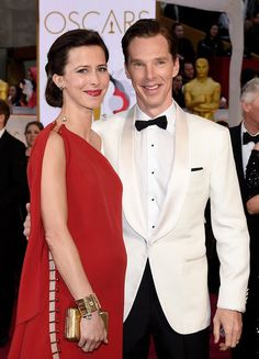 Benedict cumberbatch and sophie hunter attend the 87th annual academy