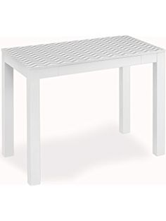 Altra Parsons Desk with Drawer, White/Gray Chevron ❤ Dorel Home Furnishings