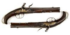 Dueling pistols, circa 1760.