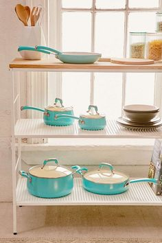 Teal Cookware l Set of 10 l Handwash l www.CarolinaDesig.......  Look into more by checking out the image link