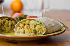 Oh She Glows: Chickpea Salad Wrap. looks like a great lunch idea