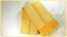 #Bufanda básica a #Crochet (idea 02)   #PatronesValhalla