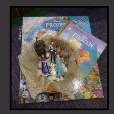 """Frozen books with characters - from Rachel ("""",)"""