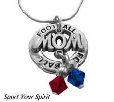 Personalized Team Color 2 Charm Football Mom by SportYourSpirit