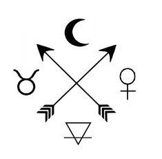 My dream tattoo symbols: The moon, taurus , venus earth and tso arrows