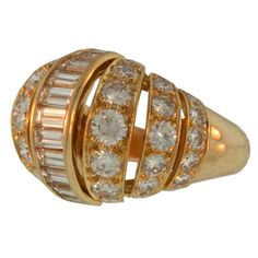 CARTIER Turban Diamond and Gold Ring