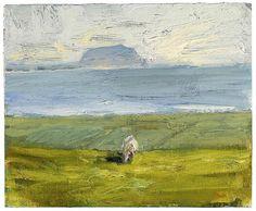 "lsmarkow: ""Tess's comfort"" Melita Denaro John Blair, John Evans, White Lilies, California Beach, The Dunes, Cemetery, Oil On Canvas, Abstract Art, In This Moment"