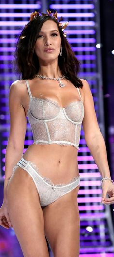 Bella Hadid Suffers A Double Nip Slip During Victoria's Secret Fashion Show 2017 In China
