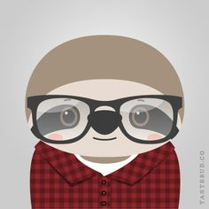 """Sloan Sloth from """"What Stylish Animal Are You?"""" online game from Tastebud. Illustration by Daniel Knispel"""