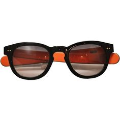 L'Inde Le Palais Bicolored sunglasses (3,320 MXN) ❤ liked on Polyvore featuring accessories, eyewear, sunglasses, glasses, orange, l'inde, orange glasses y orange sunglasses