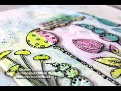 "Journal d'artiste ""si la vie est un jardin…"" art journaling"