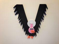 Pin It, Make It: Animal Alphabet: Letter V - Vulture (inspiration only, broken link) Preschool Letter Crafts, Alphabet Letter Crafts, Abc Crafts, Preschool Projects, Daycare Crafts, Alphabet Activities, Preschool Crafts, Letter Art, Preschool Ideas