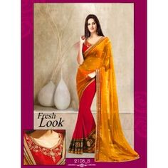 Designer Yellow Color Party Wear Saree Designed By Being Fashion.