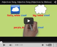 Adjective Song (Adjectives by Melissa).... I wrote this song to illustrate the power of the adjective in the English language. Each verse contains a common noun that is enhanced by the use of adjectives. The illustrations change along with the text to give students concrete examples of how adjectives modify nouns. I wrote this song to empower my students. The use of adjectives directly affects the picture the reader of their text receives. Put the power in the pencil! #grammarsongsbymelissa