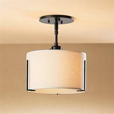 Hubbardton Forge 126498 Exos Semi Flush Ceiling Light
