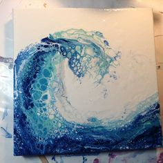 Fluid painting wave