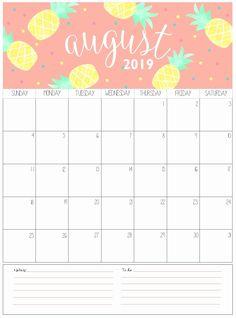 67 Best August 2019 Calendars Images