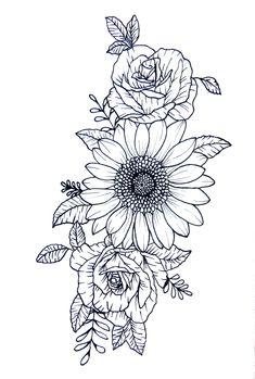 Dope Tattoos, Hip Thigh Tattoos, Hip Tattoos Women, Flower Thigh Tattoos, Tatoos, Back Of Thigh Tattoo Women, Flower Neck Tattoo, Side Hip Tattoos, Rose Tattoo Thigh