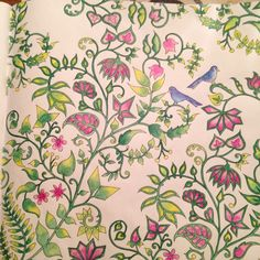 #ShareIG I think this is a really pretty pattern  #johannabasford #enchantedforest #foretenchantee #colouringbook #coloriage #arttherapy #antistress