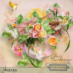 """Scrapbooking im Rollinest: """"THE BIRDCAGE"""" by Valkyrie Designs at E-scape and Scrap"""
