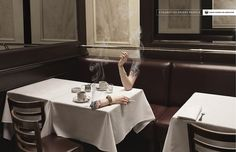 In this article there are 53 examples of print ads from anti-smoking advertising campaigns as well as unofficial ads or flyers. Advertising Pictures, Creative Advertising, Advertising Campaign, Advertising Design, Ads Creative, Advertising Industry, Social Advertising, Creative Shot, Advertising Poster