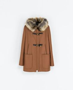 Image 7 of DUFFLE COAT WITH FUR HOOD from Zara