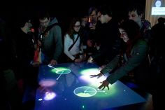 Struktable multitouch table is as fun to use as it is to say -- Engadget Interactive Installation, Interactive Design, Short Throw Projector, Outdoor Learning, Multi Touch, Digital Signage, Learning Environments, User Experience, User Interface