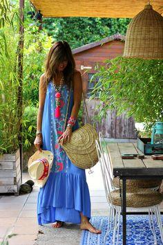 la campiña - Mytenida - StyleLovely Boho Fashion Summer, Ibiza Fashion, Ibiza Dress, Morocco Fashion, Look Boho Chic, Hippie Outfits, Summer Dresses For Women, Cute Dresses, Bikini