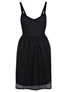 Spitzenkleid mit Geo-Muster - Kleider  - Kleidung