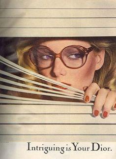 Patti Hansen, Dior Glasses, 1977