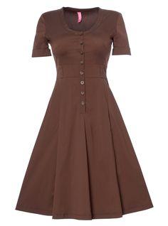 Zip down dress for busty women | DD Atelier: http://dd-atelier.com/Zip-down-dress-for-busty-women.html