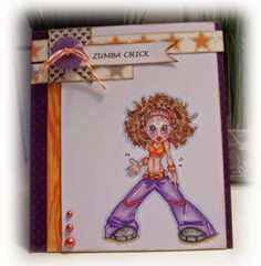 Saturated Canary. Zumba chick!coulered with promarkers